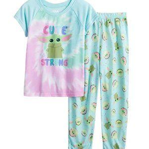 NWT 6 girl baby yoda star wars mandalorian pajamas